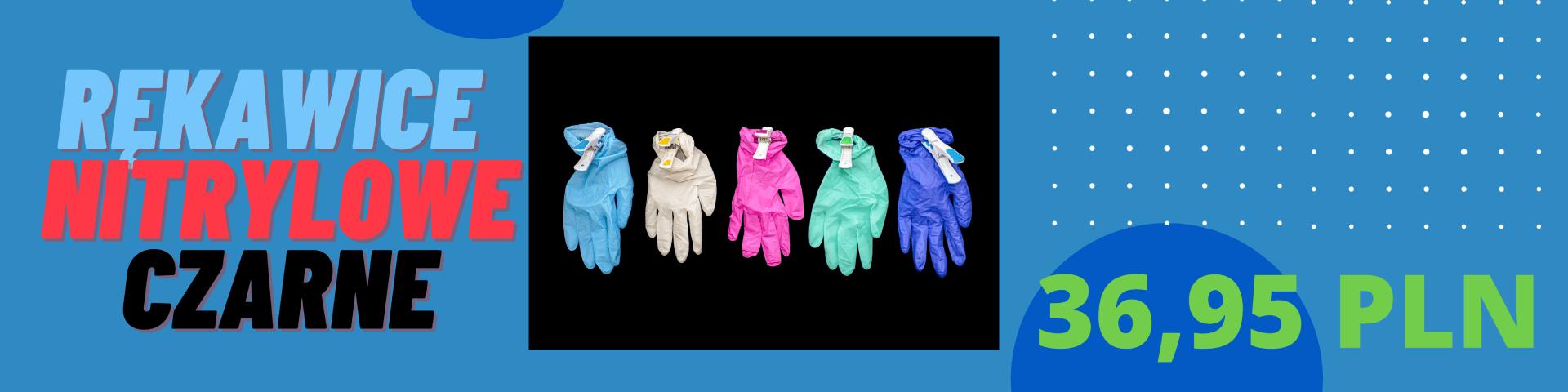 Rękawice nitrylowe czarne promocja